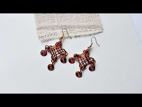 How To Create Woven Dangle Wire Earrings - DIY Crafts Tutorial - Guidecentral