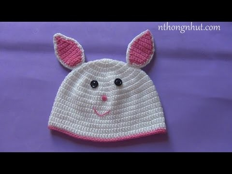 How to crochet a baby hat - Pattern 4 (engsub)