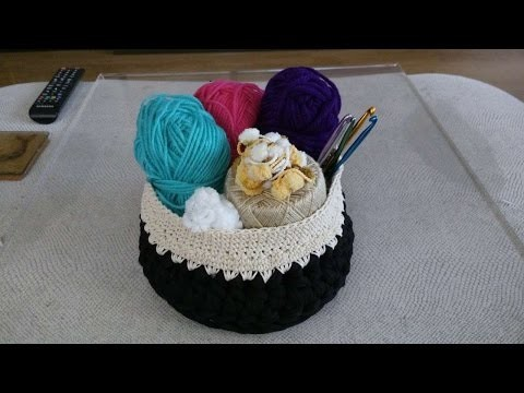 How To Crochet A Basket To Organize Yarns And Hooks - DIY Crafts Tutorial - Guidecentral