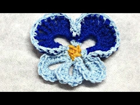 How To Crochet A Flower Pansy - DIY Crafts Tutorial - Guidecentral