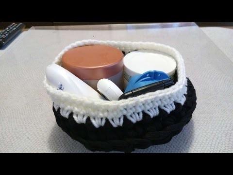 How To Crochet A Mini Bathroom Yarn Basket - DIY Crafts Tutorial - Guidecentral