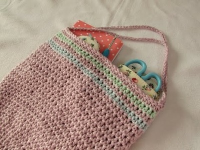 How to crochet a simple round bag. purse for beginners