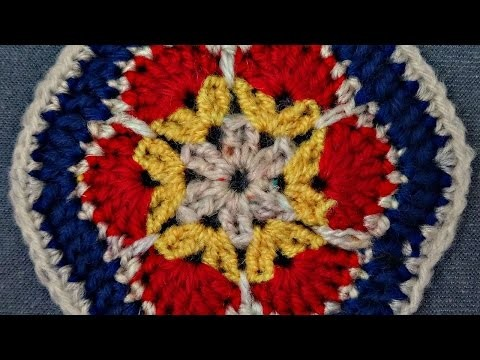 How To Crochet An Afghan Hexagonal Flower - DIY Crafts Tutorial - Guidecentral