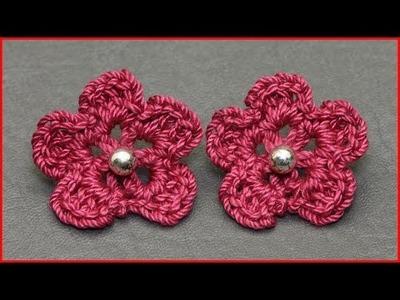 How to Crochet an Earring Embellishment
