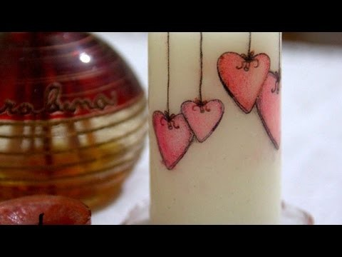 How To Decorate A Candle For Valentine's Day - DIY Crafts Tutorial - Guidecentral
