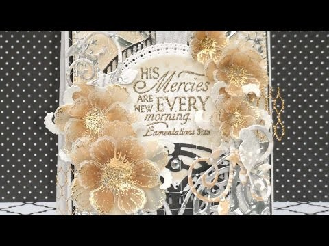 How To Foil Stamped Flowers On Vellum Using Decofoil - DIY Crafts Tutorial - Guidecentral
