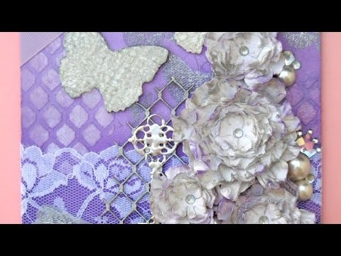 How To Make A Cute & *Girly Butterfly Canvas* - DIY Crafts Tutorial - Guidecentral