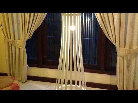 How To Make A Easy Elegant Slat Wood Floor Lamp - DIY Crafts Tutorial - Guidecentral