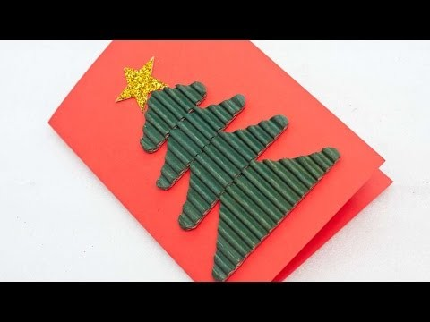 How To Make A Festive Corrugated Christmas Tree Card - DIY Crafts Tutorial - Guidecentral