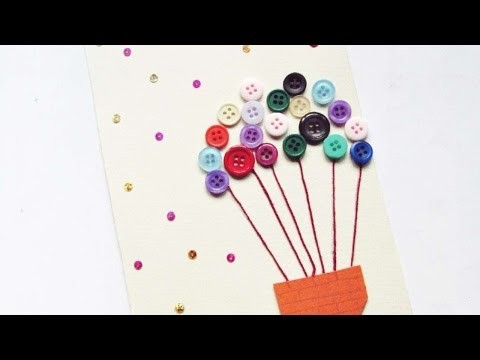 How To Make A Hot Air Balloon Button Card - DIY Crafts Tutorial - Guidecentral