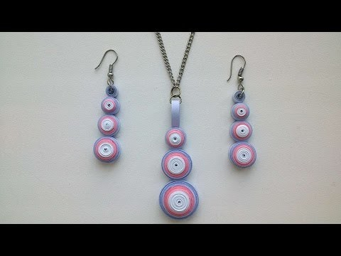 How To Make A Necklace And Earrings Quilling - DIY Crafts Tutorial - Guidecentral