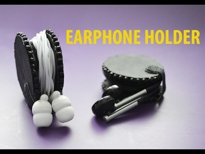 How to make an EARPHONE HOLDER - Easy DIY