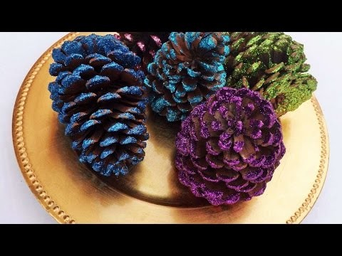 How To Make Beautiful Glittered Pine Cones - DIY Crafts Tutorial - Guidecentral