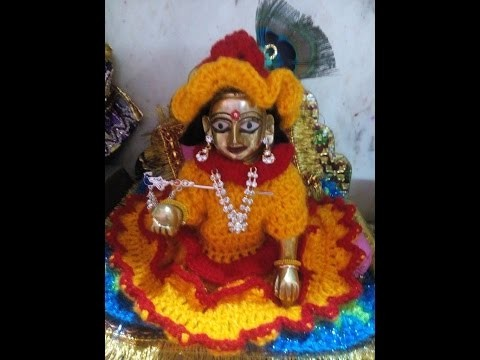 How to make crochet cap for yellow and red dress for bal gopal. ladoo gopal. krishna