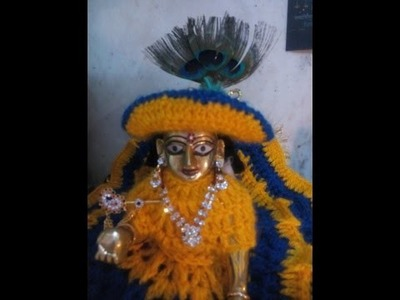 How to make crochet Hat. cap for winter dress for bal gopal. ladoo gopal. krishna