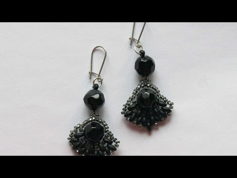 How To Make Earrings With Large Black Beads - DIY Crafts Tutorial - Guidecentral