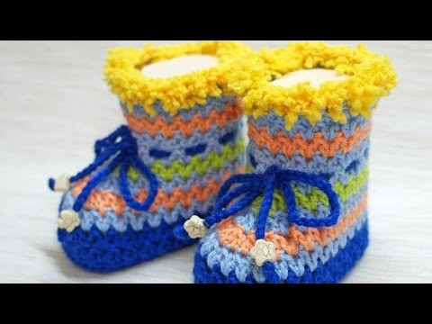 How To Make Lovely Crocheted Baby Booties - DIY Crafts Tutorial - Guidecentral