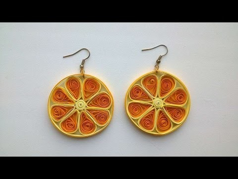 How To Make Orange Shape Paper Earrings - DIY Crafts Tutorial - Guidecentral