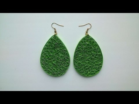 How To Make Original Quilled Green Earrings - DIY Crafts Tutorial - Guidecentral