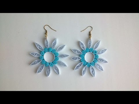 How To Make Paper Quilled Flower Earrings - DIY Crafts Tutorial - Guidecentral