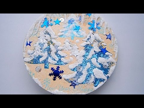 How To Make Snow Covered Fridge Magnet - DIY Crafts Tutorial - Guidecentral