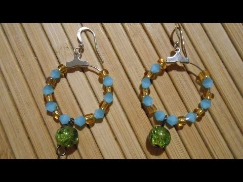 How To Making Beaded Circle Earrings - DIY Crafts Tutorial - Guidecentral