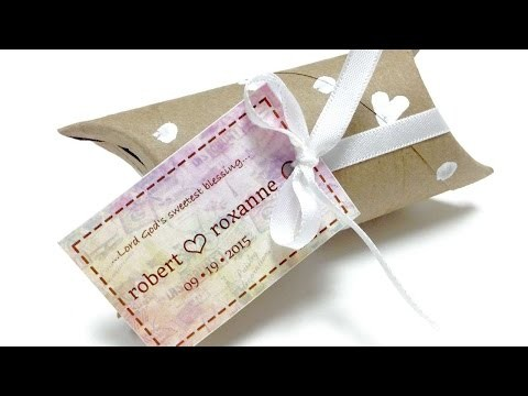How To Upcycle Toilet Roll Into Wedding Favor Box - DIY Crafts Tutorial - Guidecentral
