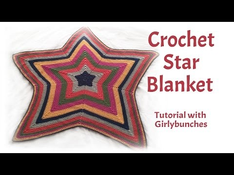 Learn to Crochet with Girlybunches - Crochet Star Blanket - Tutorial