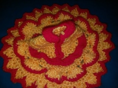 Part 2 - Crochet dress lotus.flower design - bal gopal winter dress