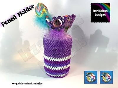 Rainbow Loom Crochet Pencil Holder using loom bands