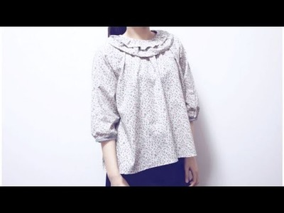 Sewing + Refashion DIY (double layer) Frill Collar Blouse