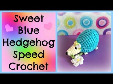 ♥★ Sweet Blue Hedghog Speed Crochet ★♥