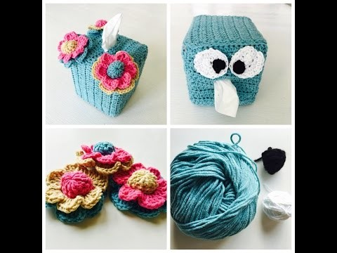 Adorable And Easy Crochet Tissue box Cover