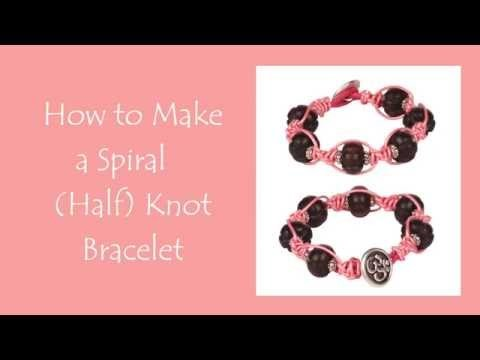 Antelope Beads - How to Make a Spiral (Half) Knot Bracelet