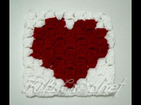 Be My Valentine Crochet Coaster (part 1)