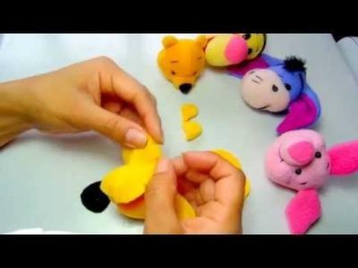 Como hacer la cabeza de Winnie Pooh | How to make the head of Winnie the Pooh - Loou