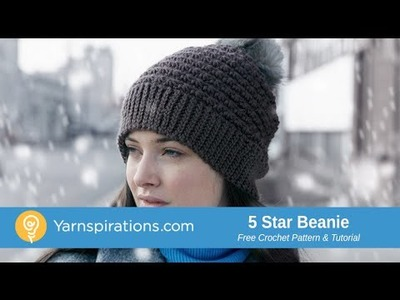 Crochet 5 Star Beanie Hat Tutorial