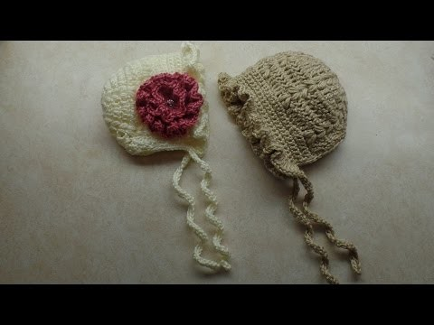 #Crochet Adorable Baby Bonnet Hat #TUTORIAL
