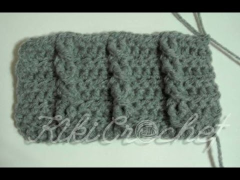 Crochet Cable Stitch (single cables- english tutorial)