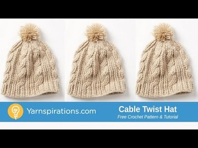 Crochet Cable Twist Hat Tutorial