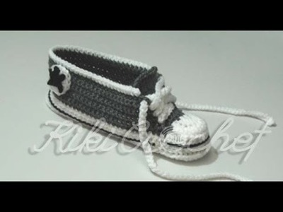 Crochet Converse Shoes Adult Size (part 2)