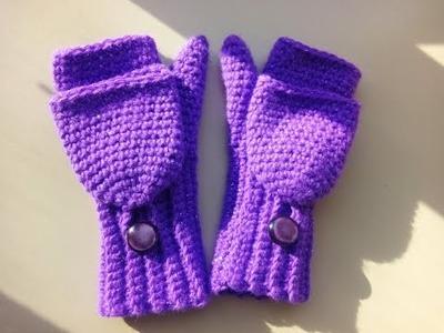 Crochet convertible fingerless gloves
