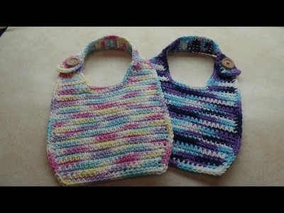 #Crochet Easy Cotton Baby Toddler Bib #TUTORIAL