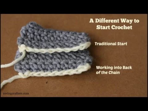 Crochet into the Back of the Starting Chain