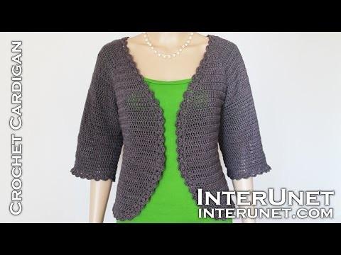 Crochet raglan sleeve cardigan