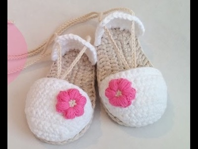 Crochet Tutorial - Easy Crochet Baby Sandals - Shoes.Sandals Crochet