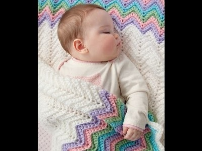 Crochet Tutorial - Easy Crochet Baby Blanket for Beginners - Afghan.Throw Crochet