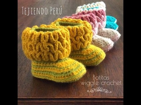 Crochet Tutorial - How to crochet Wiggly Baby Booties - Shoes.Booties.Slippers Crochet