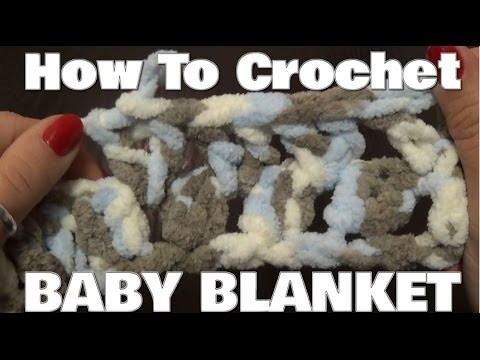 How To Crochet A Baby Blanket - Using V Stitch