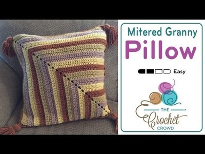 How to Crochet A Mitered Granny Pillow